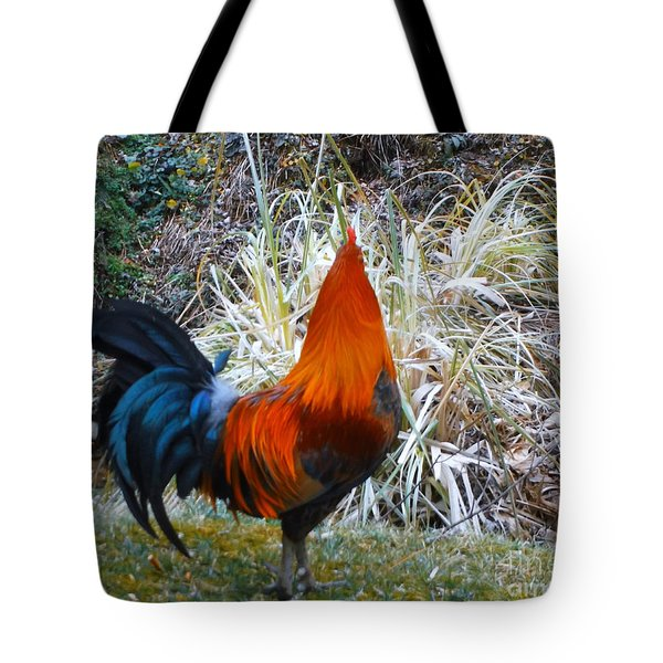 Cock Walk II Tote Bag