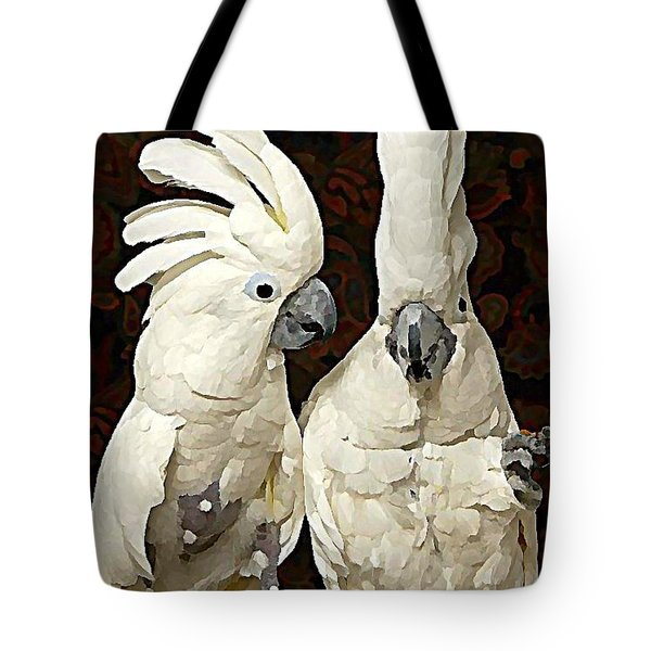 Cockatoo Conversation Tote Bag