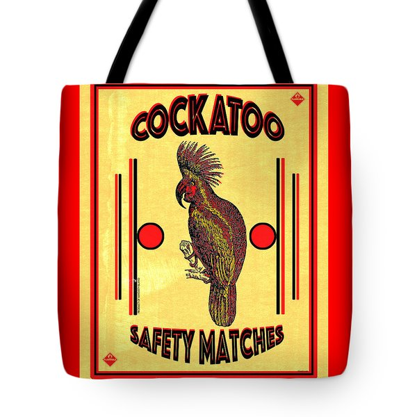 Cockatoo Safety Matches Tote Bag