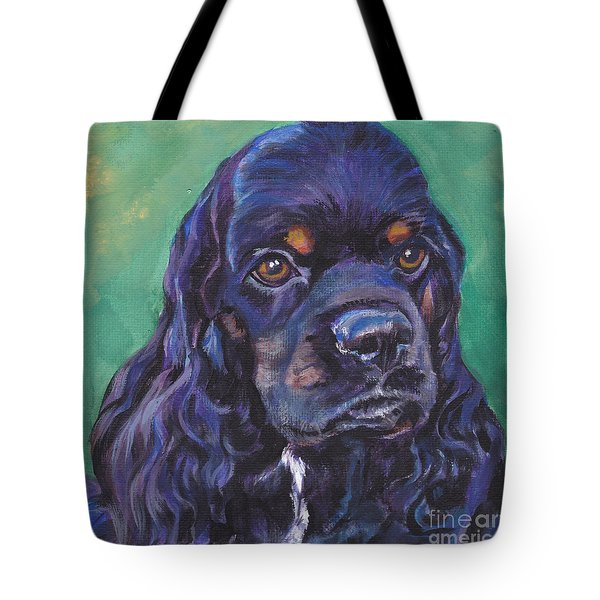 Cocker Spaniel Head Study Tote Bag by Lee Ann Shepard