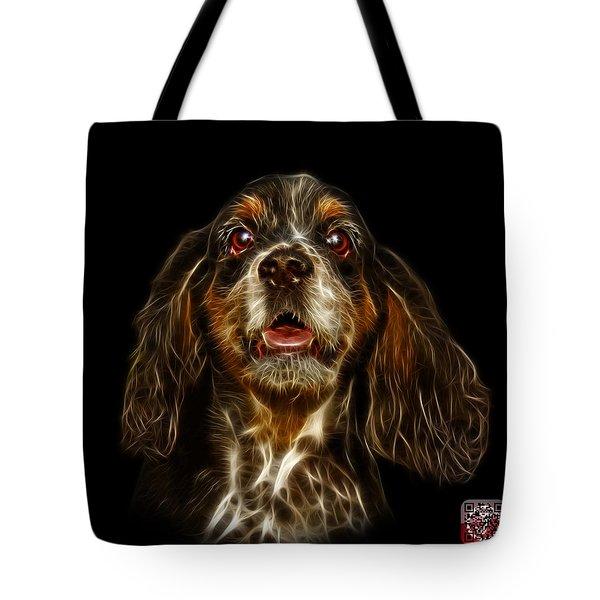 Tote Bag featuring the mixed media Cocker Spaniel Pop Art - 8249 - Bb by James Ahn