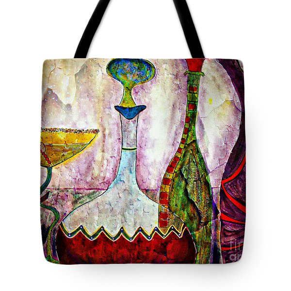 Cocktail And Wine Tote Bag