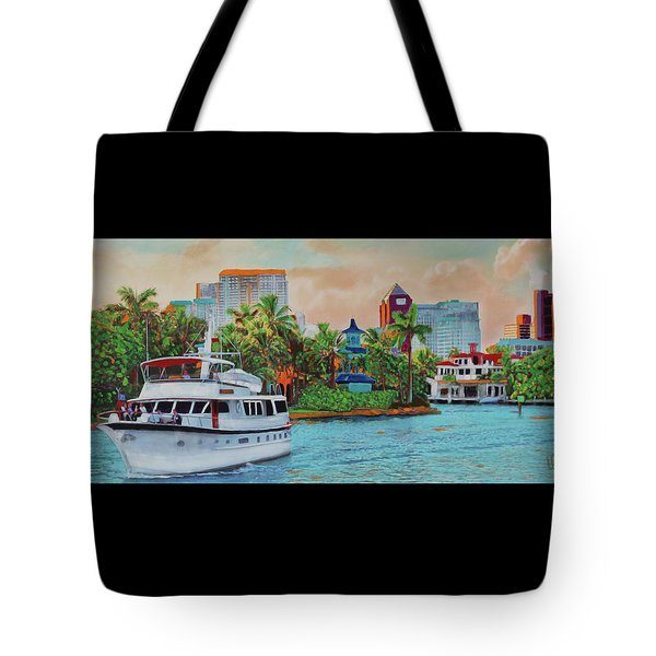 Cocktails On The New River Tote Bag