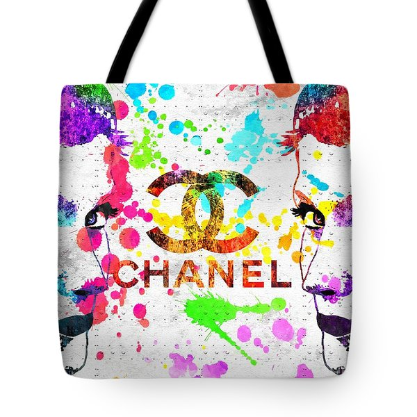 Coco Chanel Grunge Tote Bag