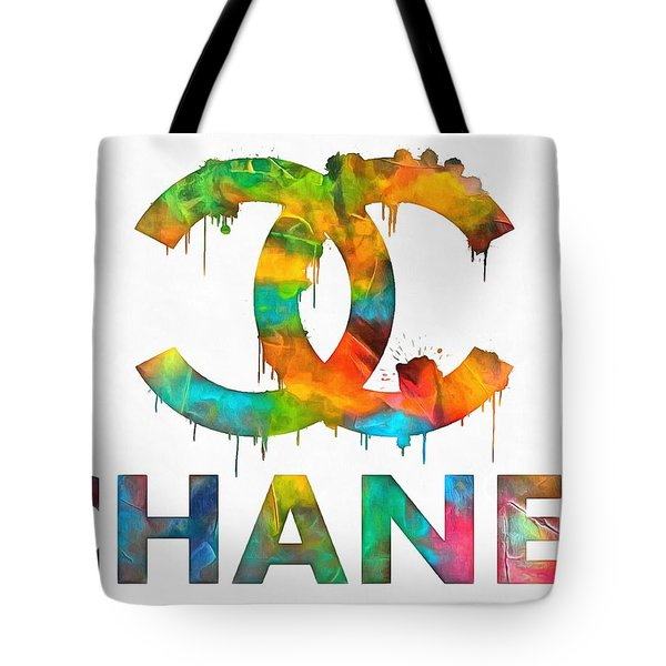 Coco Chanel Paint Splatter Color Tote Bag