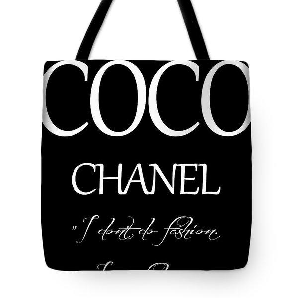 Coco Chanel Quote Tote Bag