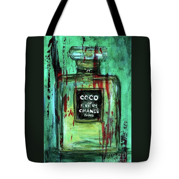 Tote Bag featuring the painting Coco Potion by P J Lewis