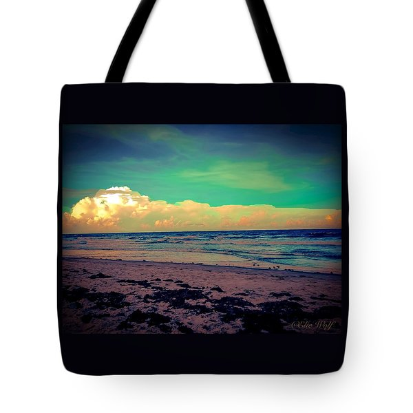 Cocoa Beach At Dusk Tote Bag
