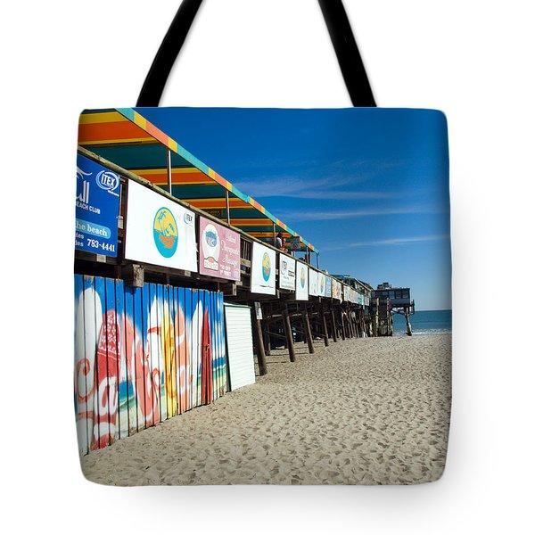 Cocoa Beach Flotida Tote Bag by Allan  Hughes