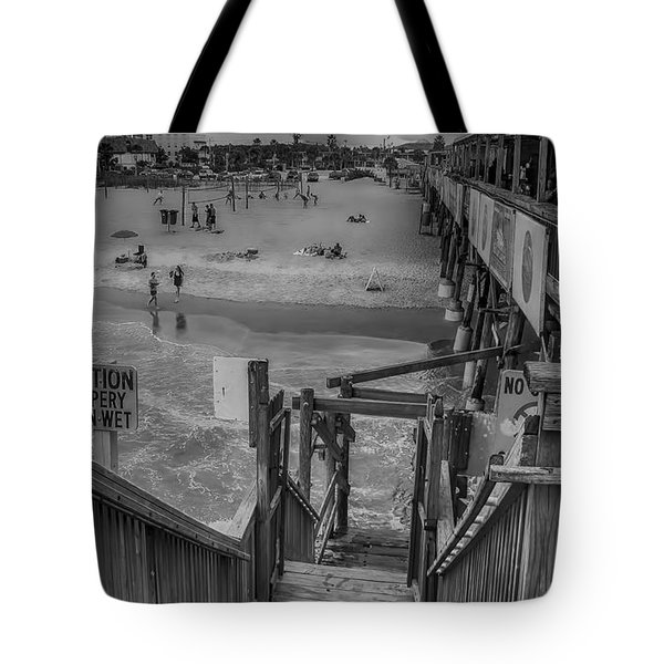 Cocoa Beach Pier Tote Bag by Pat Cook