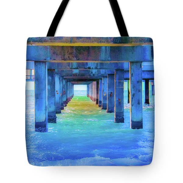 Cocoa Pier Tote Bag by Pamela Williams