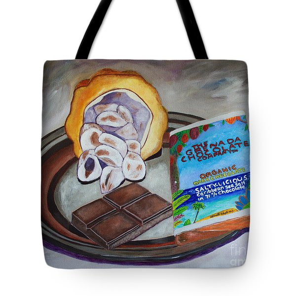 Cocoa Pod To Chocolate Bar Tote Bag by Laura Forde