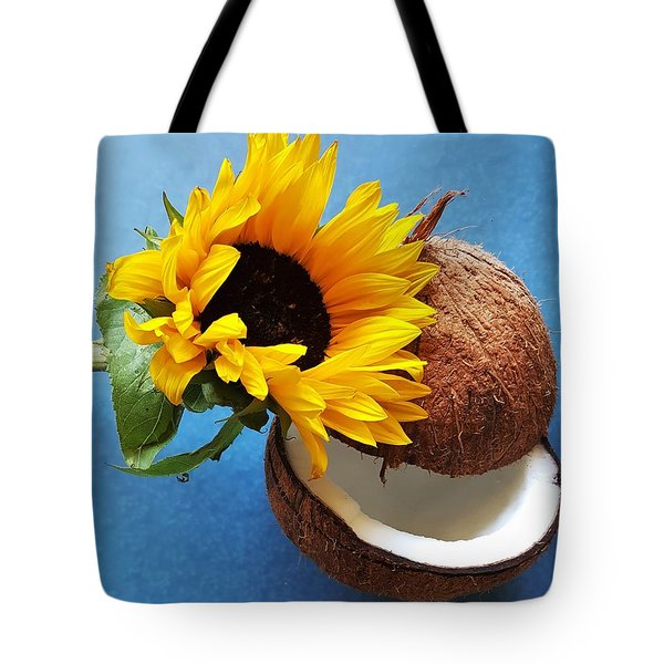 Coconut And Sunflower Harmony Tote Bag by Jasna Gopic