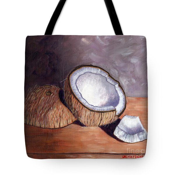Coconut Anyone? Tote Bag by Laura Forde
