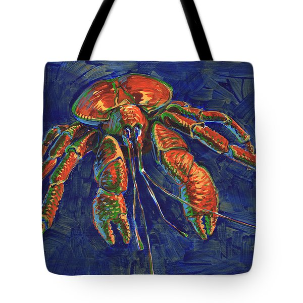 Tote Bag featuring the painting Coconut Crab by Judith Kunzle