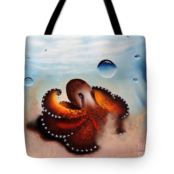 Coconut Octopus Tote Bag by Dianna Lewis
