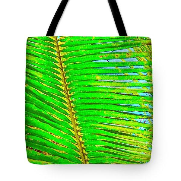Coconut Palm Leaf Aloha Tote Bag