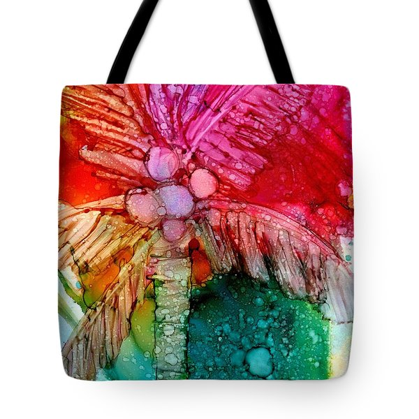 Tote Bag featuring the painting Coconut Palm Tree by Marionette Taboniar