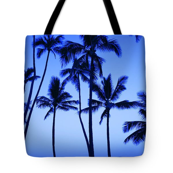 Coconut Palms At Dawn Tote Bag by Dana Edmunds - Printscapes