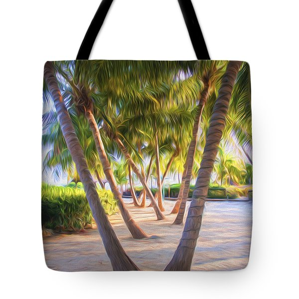 Coconut Palms Inn Beachfront Tote Bag