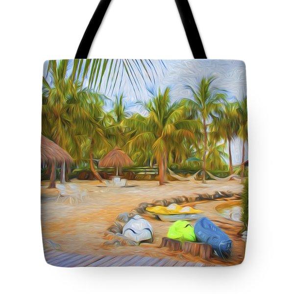 Coconut Palms Inn Beach Tote Bag
