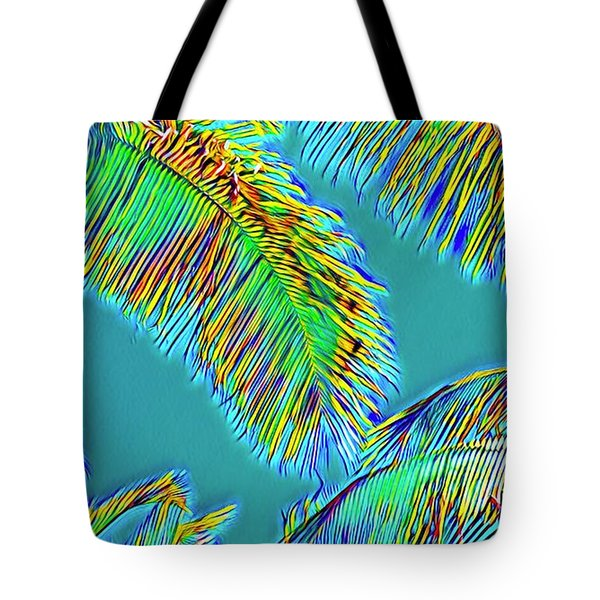 Coconut Palms Psychedelic Tote Bag
