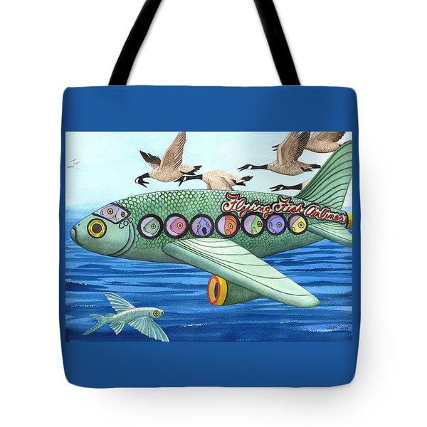 Cod Is My Co-pilot Tote Bag