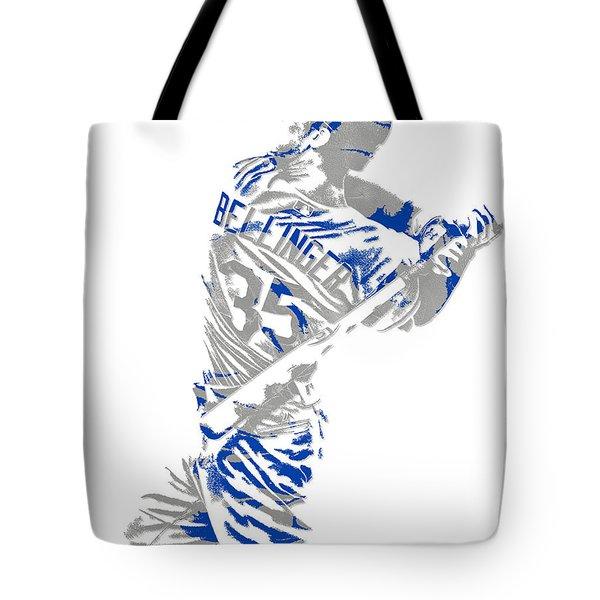 Cody Bellinger Los Angeles Dodgers Pixel Art 2 Tote Bag