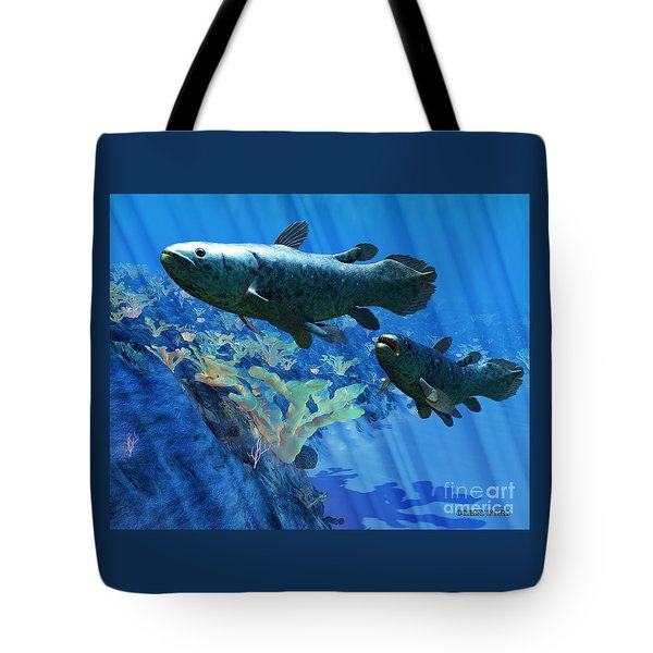 Coelacanth Fish Tote Bag by Corey Ford