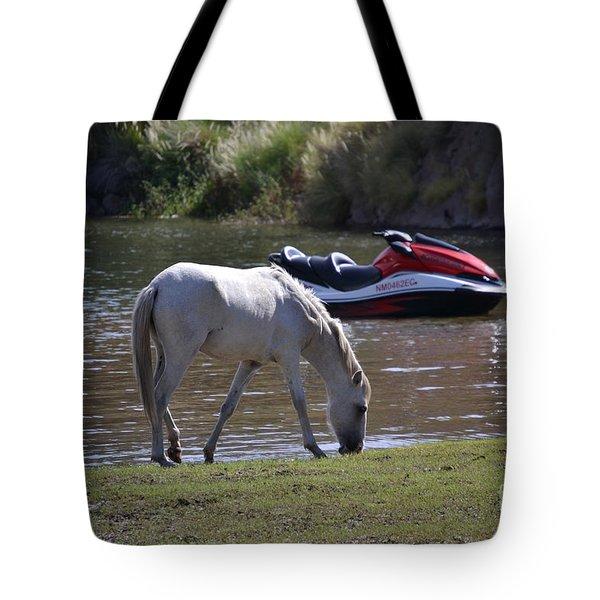 Coexistence Salt River Wild Horses Tonto National Forest Number Two Jet Ski Tote Bag