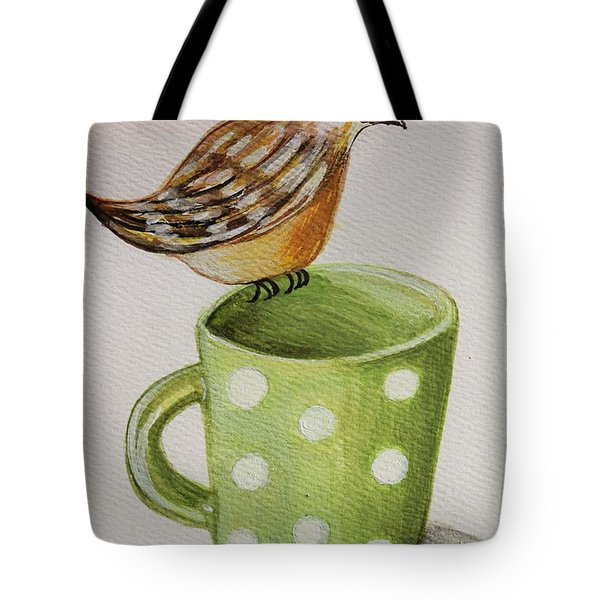 Coffee And A Friend Tote Bag by Elizabeth Robinette Tyndall