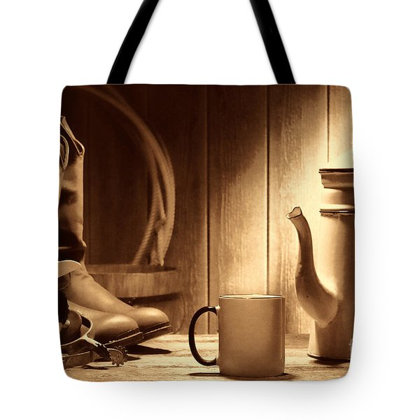 Coffee At The Ranch Tote Bag