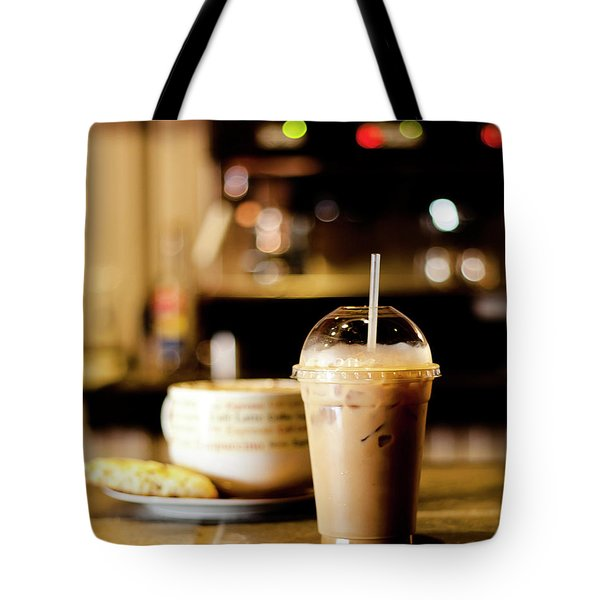 Coffee Bar Atmosphere Tote Bag