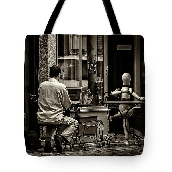 Coffee Break Tote Bag by Bob Orsillo