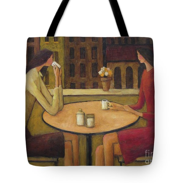 Tote Bag featuring the painting Coffee Break by Glenn Quist