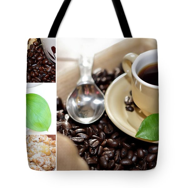 Coffee Collage  Tote Bag by Serena King