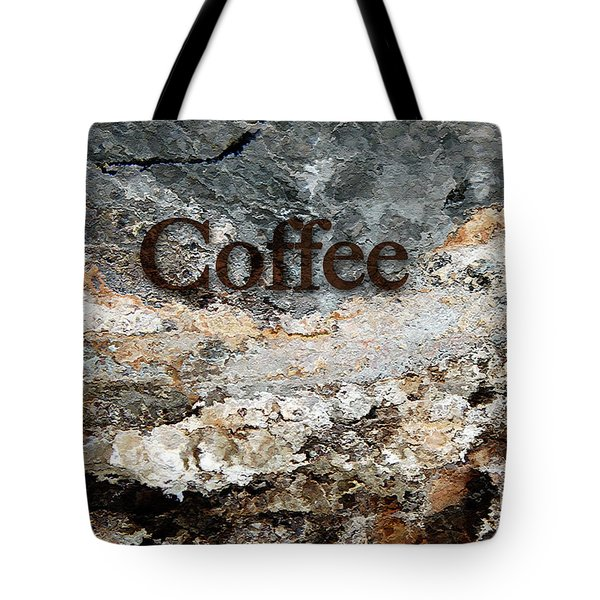 Coffee Edit 2 Brown Letters Tote Bag
