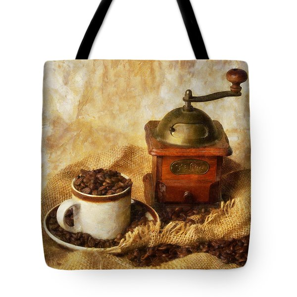 Coffee Grinder Tote Bag by Ian Mitchell