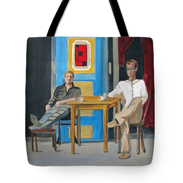 Tote Bag featuring the painting Coffee In China Town by Patricia Arroyo