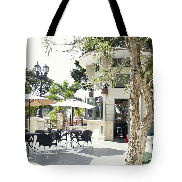 Coffee Lover's Expresso Bar At The Moll Boscana Town Square Tote Bag