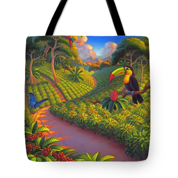 Coffee Plantation Tote Bag