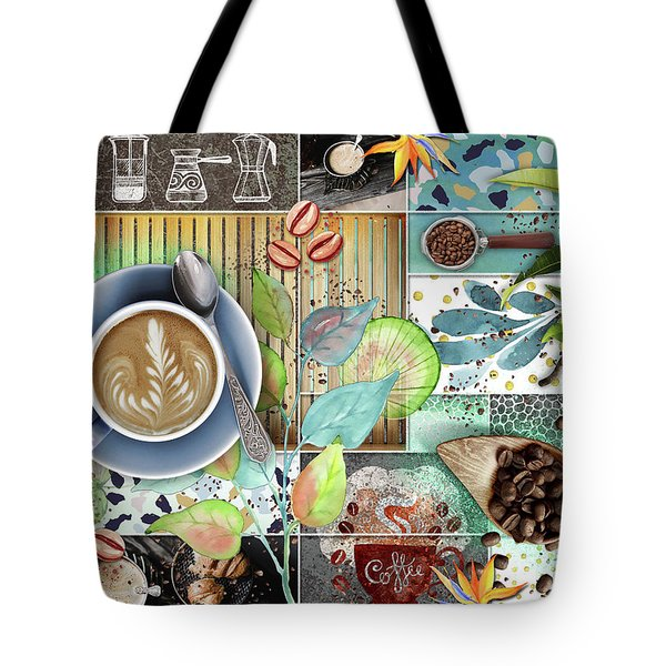 Coffee Shop Collage Tote Bag