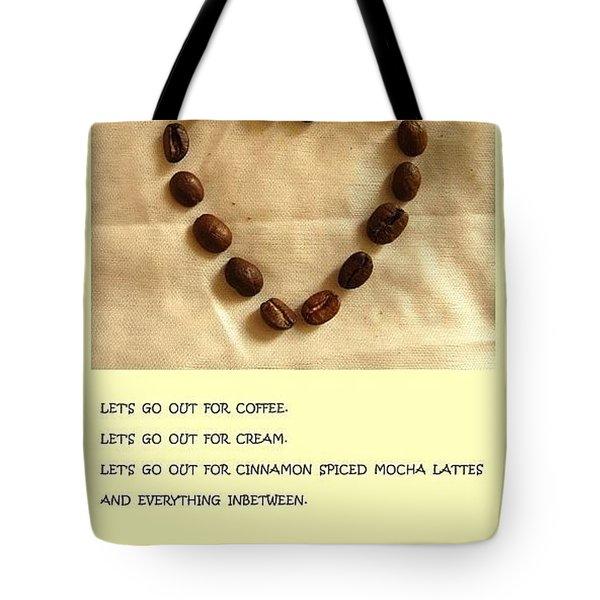 Coffee Shop Hopping Tote Bag