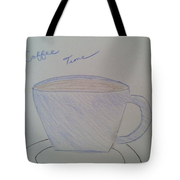 Coffee Time Tote Bag by Alohi Fujimoto