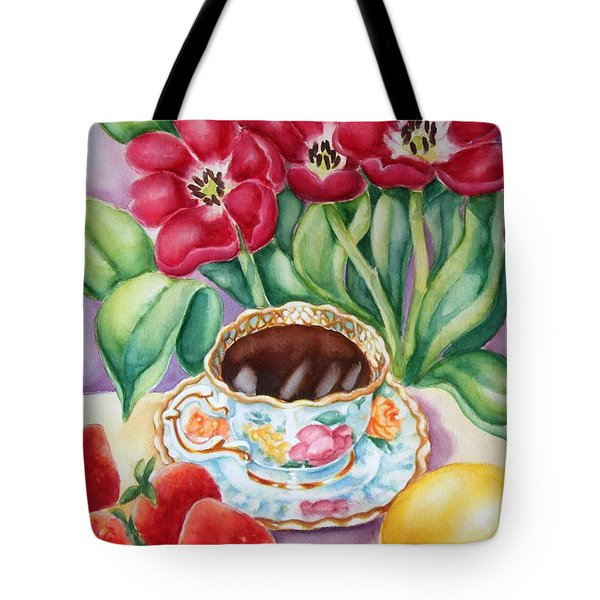 Coffee With Flavour Tote Bag by Inese Poga