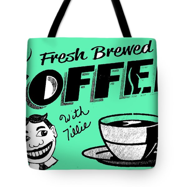 Coffee With Tillie Tote Bag