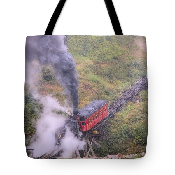 Cog Railway Car Tote Bag