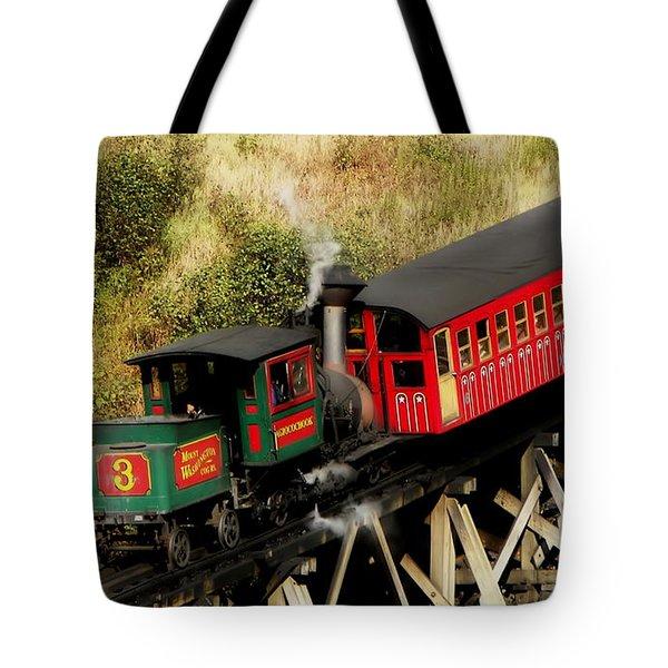 Cog Railway Vintage Tote Bag
