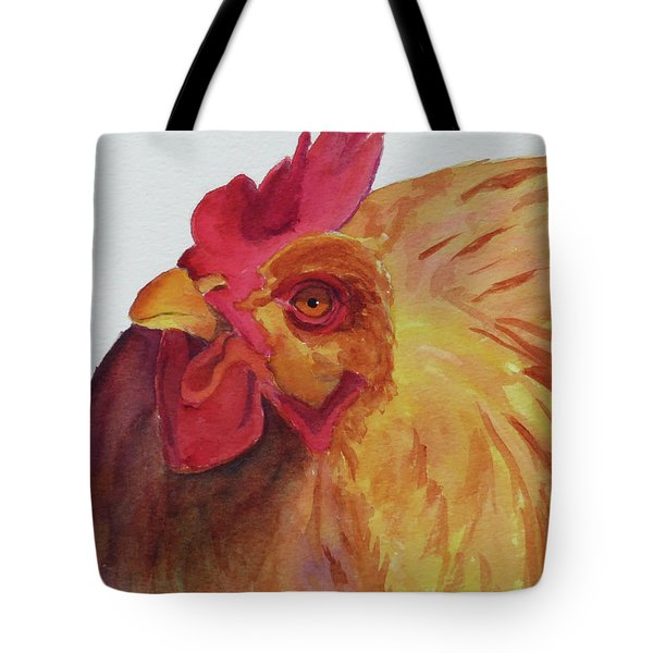 Tote Bag featuring the painting Cogburn by Judy Mercer
