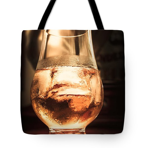 Cognac Glass On Bar Counter Tote Bag
